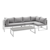 4-Piece All-Weather Patio Conversation Set - Grey Outdoor