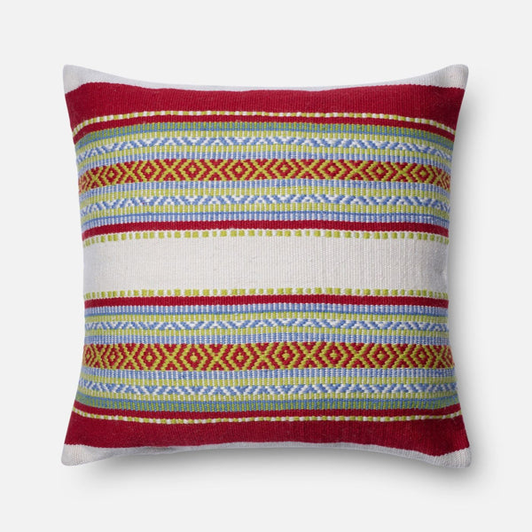 Loloi Red / Multi Decorative Throw Pillow (P0213)