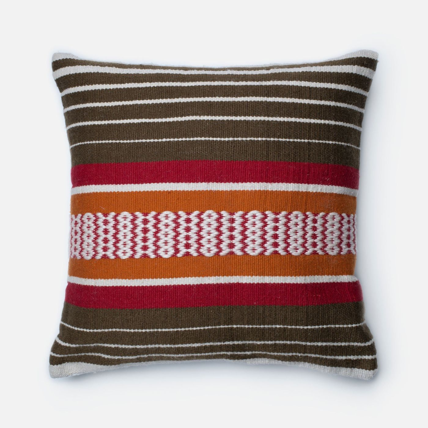 Throw Pillow Warehouse : Loloi Rugs Loloi Brown / Multi Decorative Throw Pillow (P0214) DSETP0214BRMLPIL3. Only $69.00 at ...