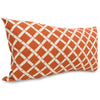 Burnt Orange Bamboo Small Pillow Outdoor