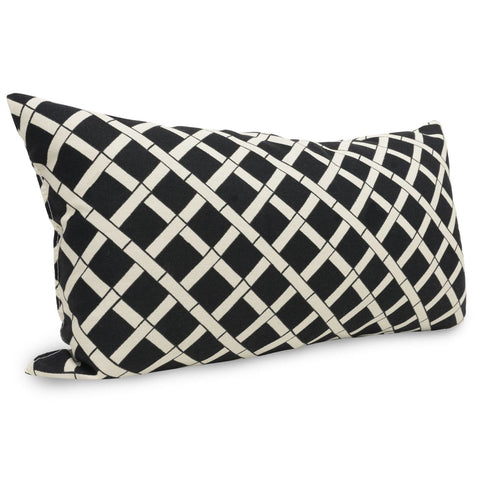 Black Bamboo Small Pillow Outdoor