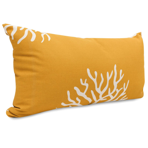 Yellow Coral Small Pillow Outdoor