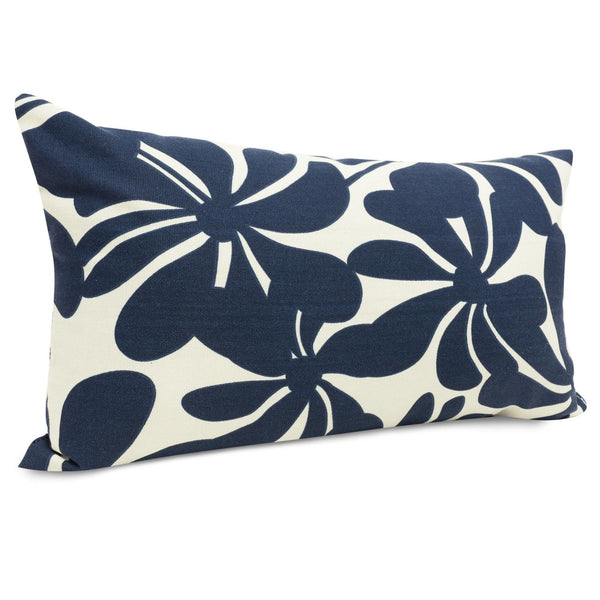 Navy Blue Plantation Small Pillow Outdoor