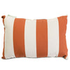 Burnt Orange Vertical Stripe Small Pillow Outdoor