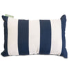 Navy Blue Vertical Stripe Small Pillow Outdoor