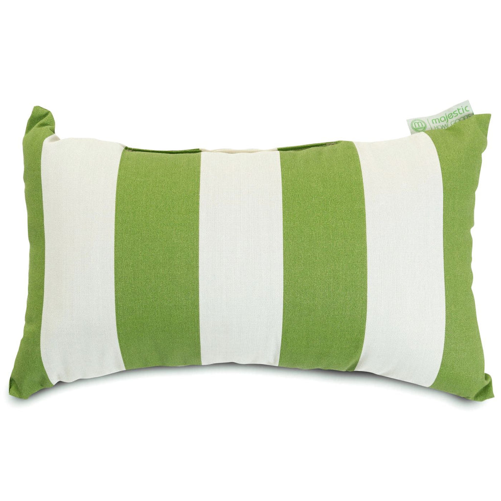 Sage Vertical Stripe Small Pillow Outdoor