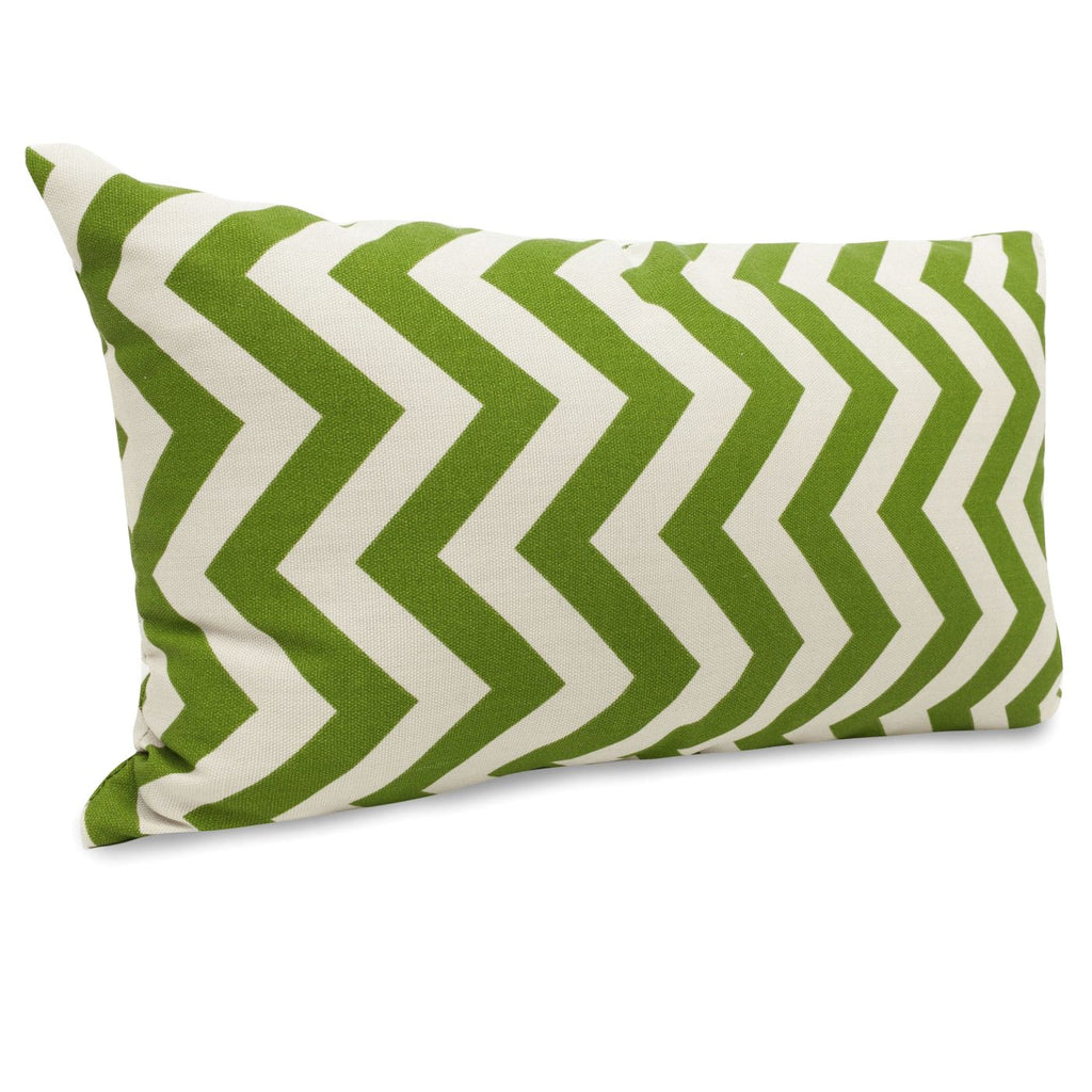 Sage Chevron Small Pillow Outdoor