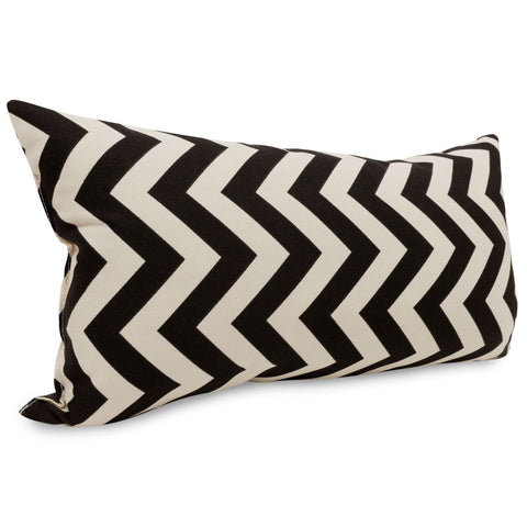 Outdoor Pillows - Majestic Home 85907220630 Black Chevron Small Pillow | 859072206300 | Only $33.60. Buy today at http://www.contemporaryfurniturewarehouse.com