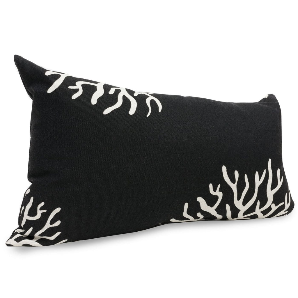 Black Coral Small Pillow Outdoor