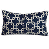 Navy Blue Links Small Pillow Outdoor
