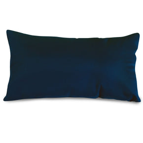 Navy Blue Solid Small Pillow Outdoor
