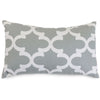 Gray Trellis Small Pillow Outdoor