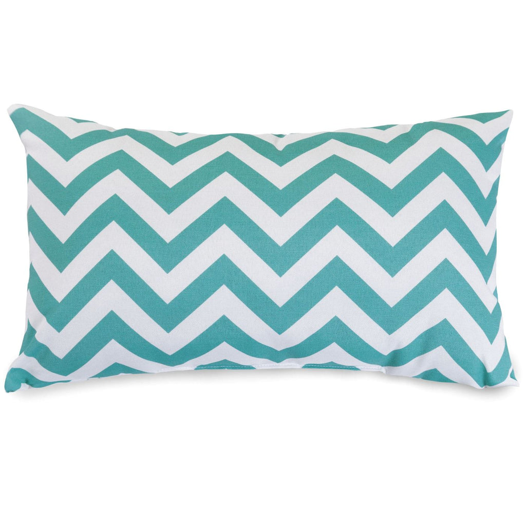 Teal Chevron Small Pillow Outdoor