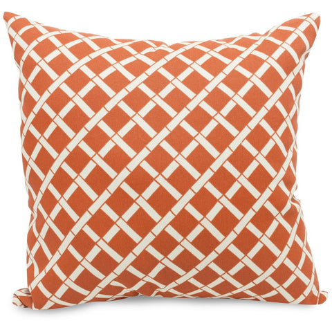 Burnt Orange Bamboo Large Pillow Outdoor