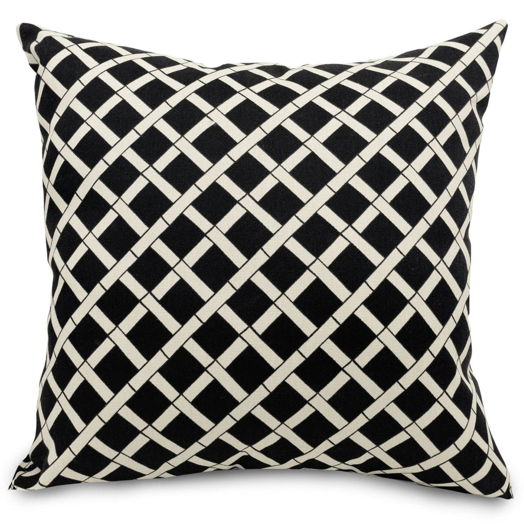 Black Bamboo Large Pillow Outdoor