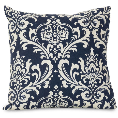 Navy Blue French Quarter Large Pillow Outdoor