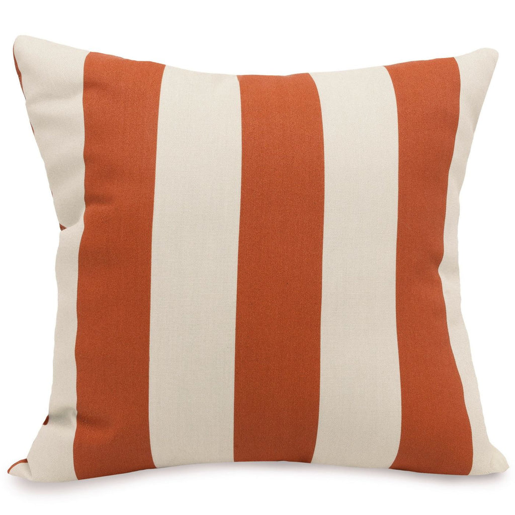 Burnt Orange Vertical Stripe Large Pillow Outdoor