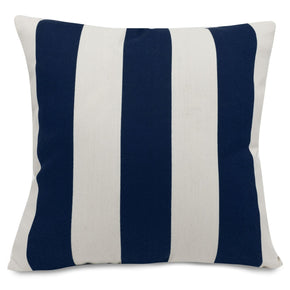 Navy Blue Vertical Stripe Large Pillow Outdoor