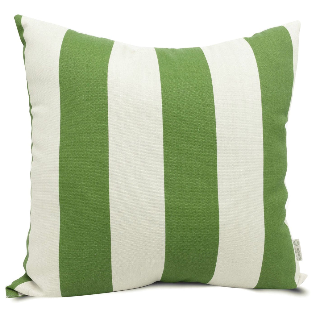 Sage Vertical Stripe Large Pillow Outdoor