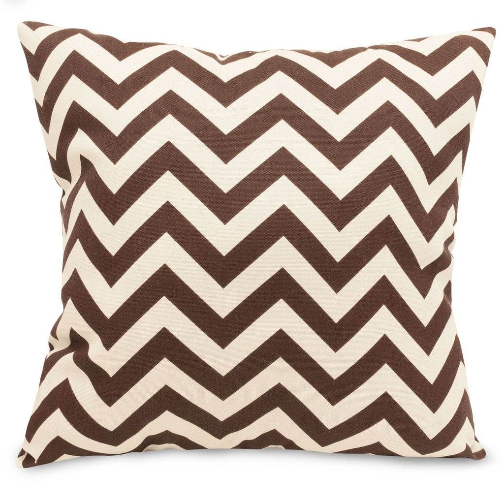 Chocolate Chevron Large Pillow Outdoor