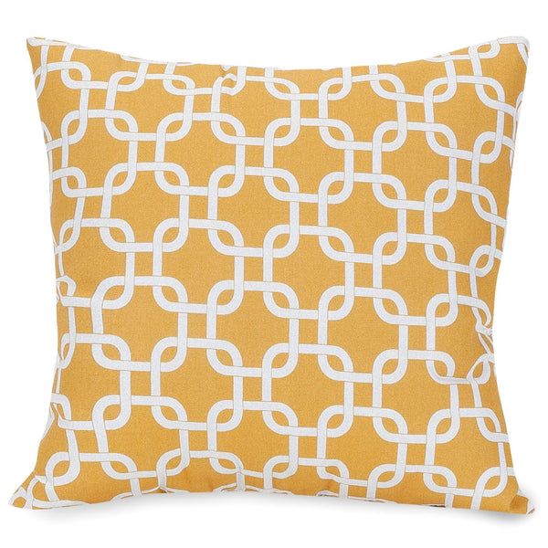 Yellow Links Large Pillow Outdoor