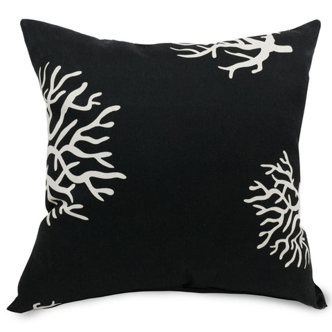 Black Coral Large Pillow Outdoor