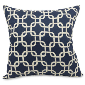 Navy Blue Links Large Pillow Outdoor