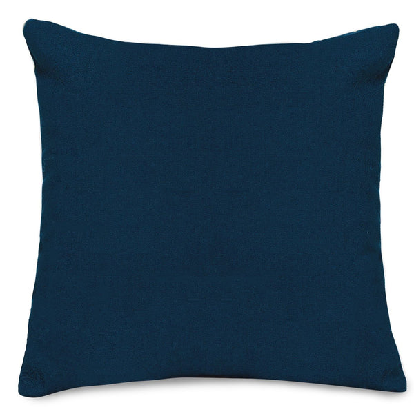 Navy Blue Solid Large Pillow Outdoor