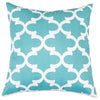 Teal Trellis Large Pillow Outdoor