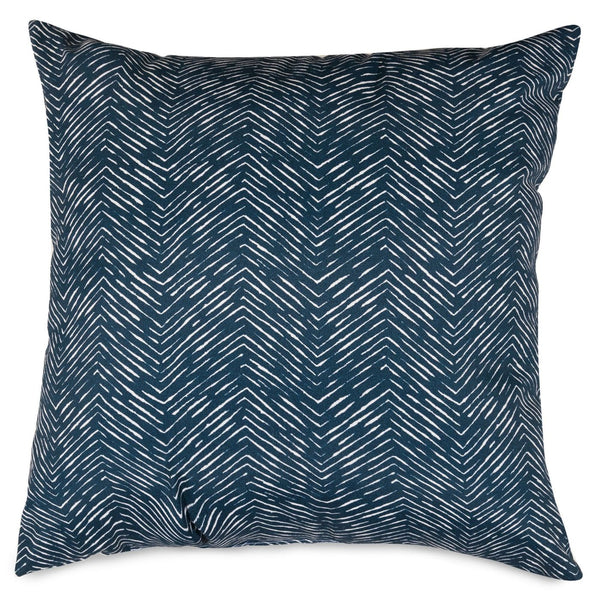 Navy Navajo Large Pillow Outdoor