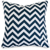 Navy Chevron Large Pillow Outdoor