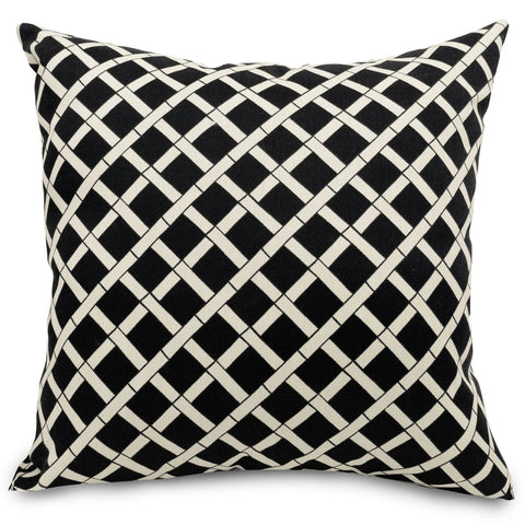 Black Bamboo Extra Large Pillow Outdoor