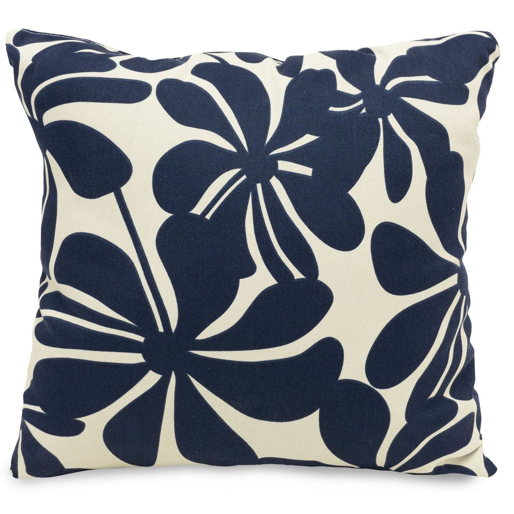 Navy Blue Plantation Extra Large Pillow Outdoor