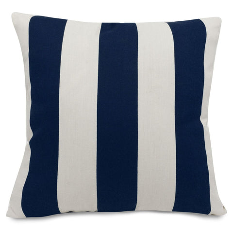 Navy Blue Vertical Stripe Extra Large Pillow Outdoor