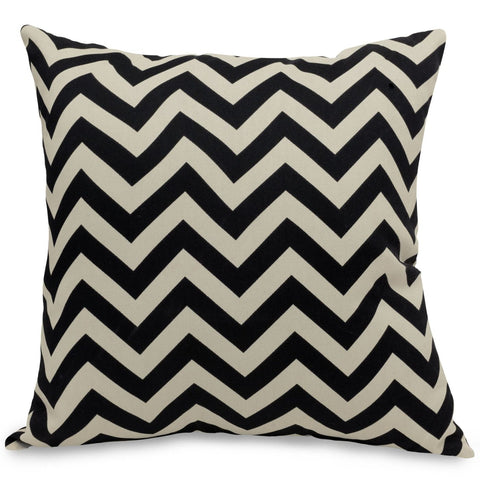 Black Chevron Extra Large Pillow Outdoor