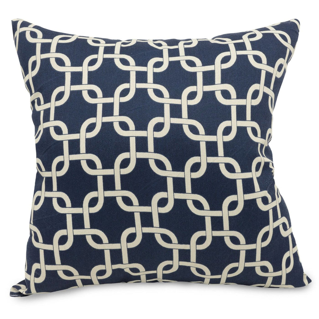 Navy Blue Links Extra Large Pillow Outdoor