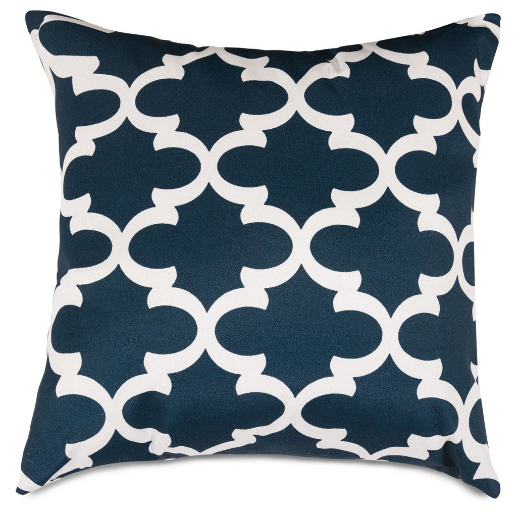 Navy Trellis Extra Large Pillow Outdoor