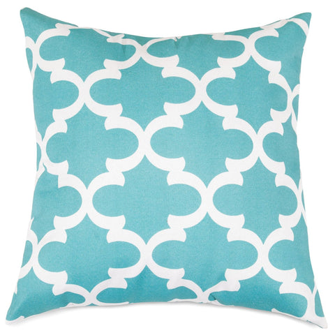 Teal Trellis Extra Large Pillow Outdoor
