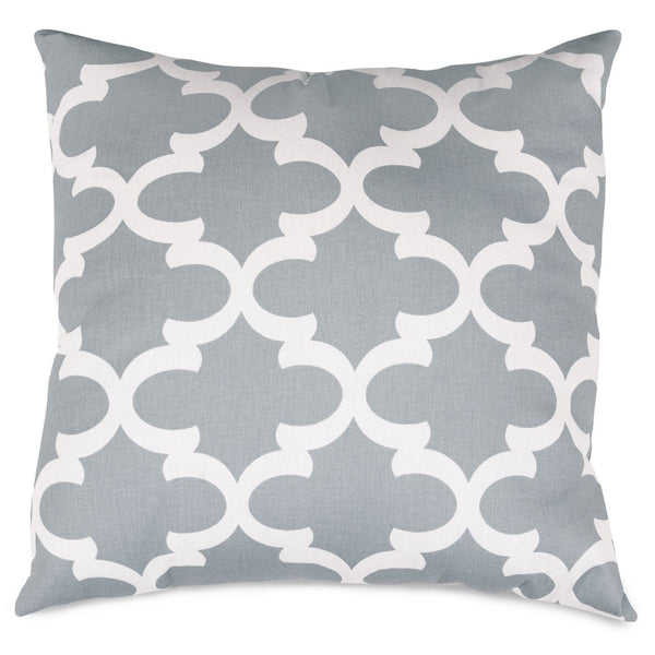 Gray Trellis Extra Large Pillow Outdoor
