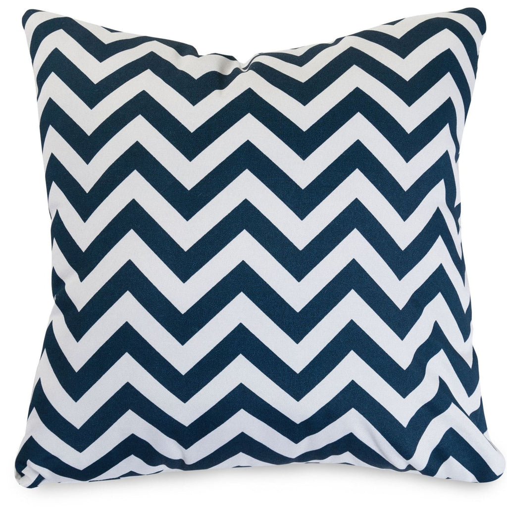 Navy Chevron Extra Large Pillow Outdoor