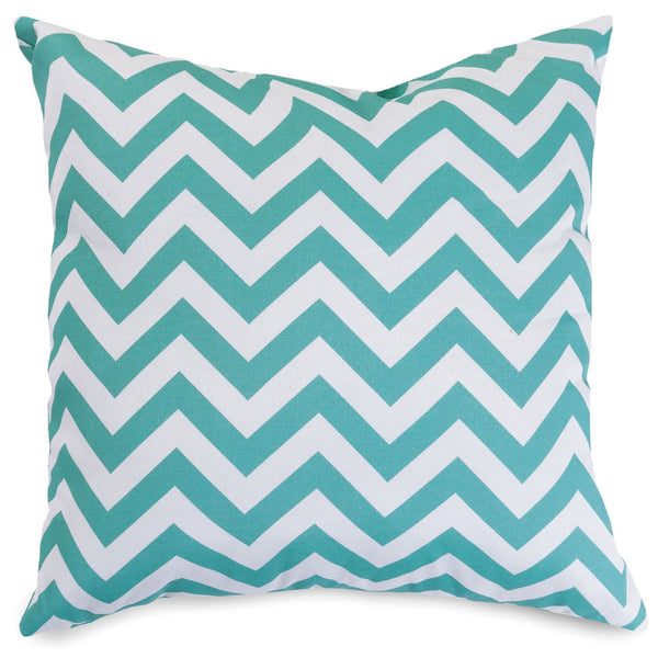 Teal Chevron Extra Large Pillow Outdoor