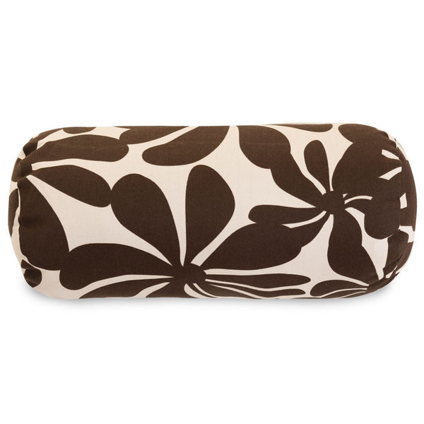 Chocolate Plantation Round Bolster Outdoor Pillow