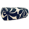 Navy Blue Plantation Round Bolster Outdoor Pillow