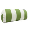 Sage Vertical Stripe Round Bolster Outdoor Pillow