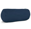 Navy Blue Solid Round Bolster Outdoor Pillow