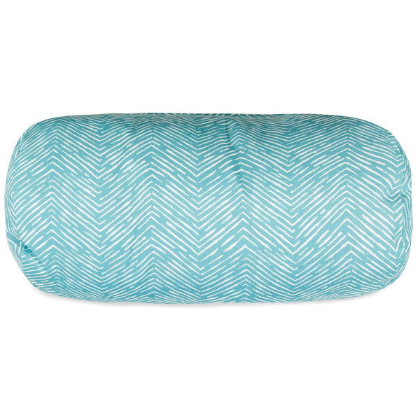 Teal Navajo Round Bolster Pillow Outdoor