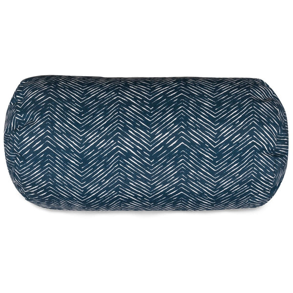 Navy Navajo Round Bolster Pillow Outdoor
