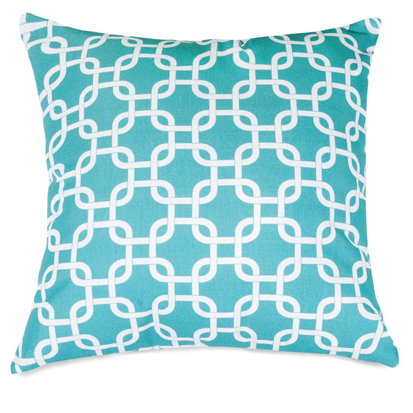 Teal Links Large Pillow Outdoor