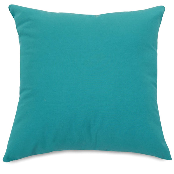 Teal Large Pillow Outdoor