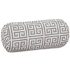 Gray Towers Round Bolster Outdoor Pillow
